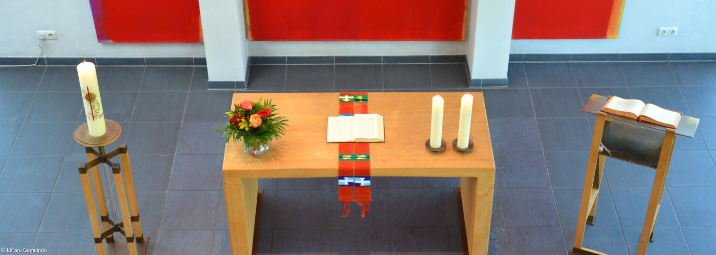 Blick auf den Altar in DBK